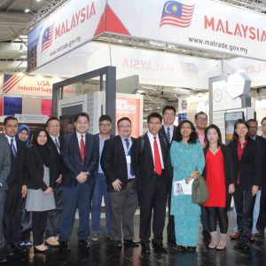 Malaysian exhibitors with Dr. Shareen and Ambassador Datin Sarah